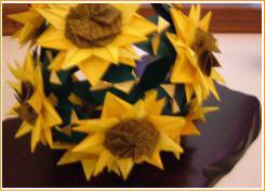 ミニ展示会 お花と折り紙